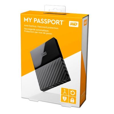"Внешний жесткий диск 2.5"" WD My Passport 1Tb Black (WDBBEX0010BBK-EEUE) фото в интернет-магазине B-59"